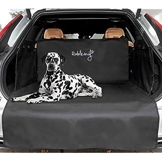 Rudelkönig Universal Kofferraumschutz mit Ladekantenschutz - wasserabweisend & pflegeleicht - Ideale Autodecke für Hunde - Schwarze Schondecke mit Kofferraumtasche