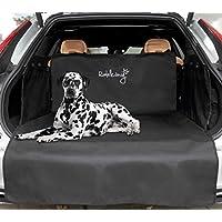 Rudelkönig Kofferraumschutz mit Ladekantenschutz - 185x104x58cm - wasserabweisend & pflegeleicht - Universale Autodecke für Hunde - Schwarze Schondecke mit Kofferraumtasche