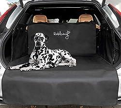 Rudelkönig Universal Kofferraumschutz mit Ladekantenschutz - wasserabweisend & pflegeleicht - 185x104x58cm - Ideale Autodecke für Hunde - Schwarze Schondecke mit Kofferraumtasche