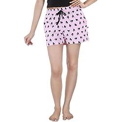 Nite Flite Women 's Shorts (LT-301-4, Pink and Black, XXL)