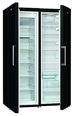 Gorenje SBS 6192 CFBK Side-by-Side / A++ / 185 cm Höhe / 351 kWh / 368 L Kühlteil / 243 L Gefrierteil / Abtau-Vollautomatik Nofrost, schwarz