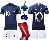 VOOA Maillots de Football Enfants de France Soccer Jersey 2018 Coupe
