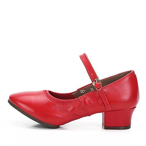 Wxmddn Scarpe da ballo femminile scarpe da ballo rosso scarpe da ballo per adulti scarpe da ballo Rosso