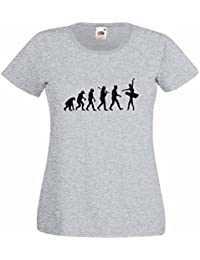 Evolution of a Ballerina Ladies Heather T-Shirt with Black Print