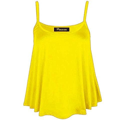 dreamzandjoyz - Débardeur - Sans Manche - Femme jaune jaune 44-46