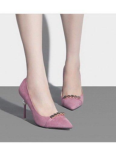WSS 2016 Chaussures Femme-Bureau & Travail / Décontracté / Habillé-Multi-couleur-Talon Aiguille-Talons / Bout Pointu / Bout Fermé-Talons-Cuir pink-us7.5 / eu38 / uk5.5 / cn38