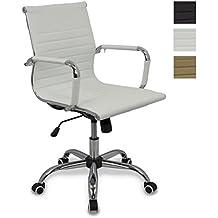 Amazon.es: silla oficina blanca