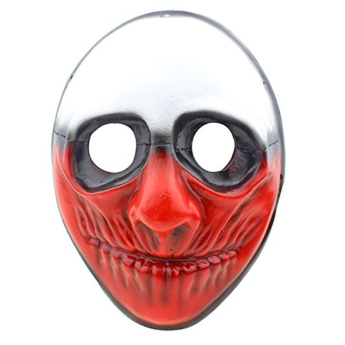 (CCOWAY Black Friday Exklusiv Halloween Masken, Payday 2 Theme Horror Cosplay Party Masken (Wolf))