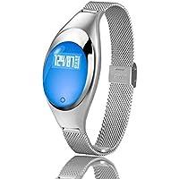Zimingu Intelligent Montre-Bracelet Femmes Fitness Bracelet Tracker IP67 Étanche Smart Watch pour Android IOS (Podomètre Santé Sommeil Moniteur Moniteur de Fréquence Cardiaque Appel / SMS Rappel)