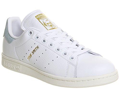 adidas Stan Smith W, Chaussures de Sport Femme Blanc (Ftwbla / Ftwbla / Vertac)