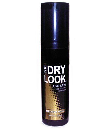 The Dry Look for Men, Non Aerosol Hairspray, Pump, MAXIMUM HOLD, 8 fl oz by Diamond Products Co