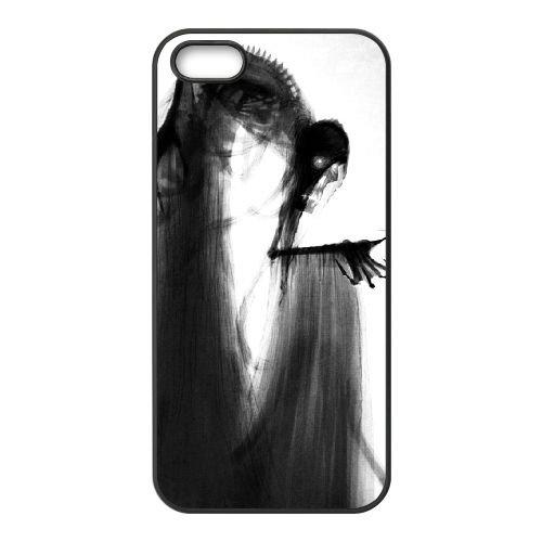 Deathly Hallows coque iPhone 4 4S Housse téléphone Noir de couverture de cas coque EBDXJKNBO11163