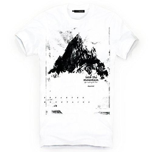 DEPARTED Herren T-Shirt mit Print/Motiv 3853-020 - New fit Größe M, White -