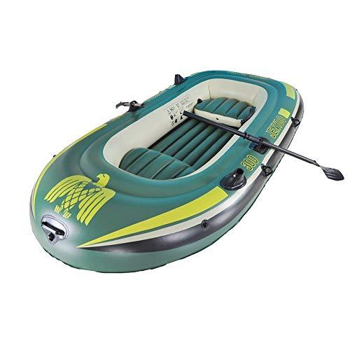 Challenger kayak gonfiabile battello pneumatico confortevole kayak per il tempo libero barca pieghevole 1-3 persone gommone sport marino pesca avventura pvc spesso in plastica 234 * 135cm verde
