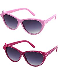Newbee Fashion - Kids Polka Dot Cute Bow Fashion Sunglasses For Kids Lead Free