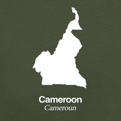 Cameroon / Kamerun Silhouette - Herren T-Shirt - 13 Farben Olivgrün