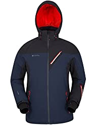 Mountain Warehouse Asteroid Ski Mens Jacket - Breathable Coat, Quick Drying Jacket, Waterproof Outer With Fleece Lined Hoodie - Ideal Ski Clothes In Cold Weather