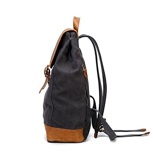 Meoaeo Schulter Computer Bag Xishui Canvas Bag Schulter Männer Männer Und Frauen Reisen Khaki gray