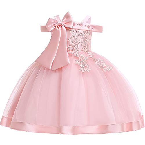 Princess Peach Dress Up - Baby Girls Flower Silk Princess Dress