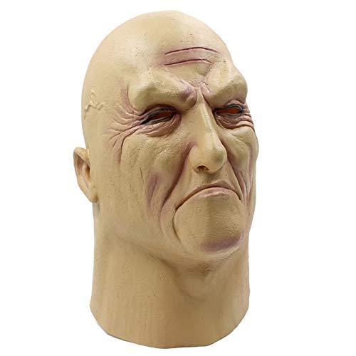 HAORONG Realistische Mann Latex Maske alte männliche Verkleidung Halloween Kostüm Bruiser Bouncer