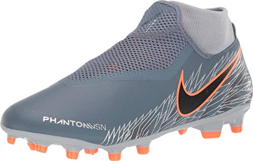 Nike Phantom Vsn Academy DF Fg/MG, Scarpe da Calcetto Indoor Unisex-Adulto, Multicolore (Racer Blue/Chrome/White 000), 42.5 EU