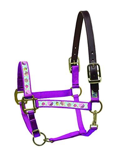 Ribbon Pony-halter (Perri 's Leather Band Sicherheit Halfter, Perri's Ribbon Nylon Safety Halter, Navy Ribbons)