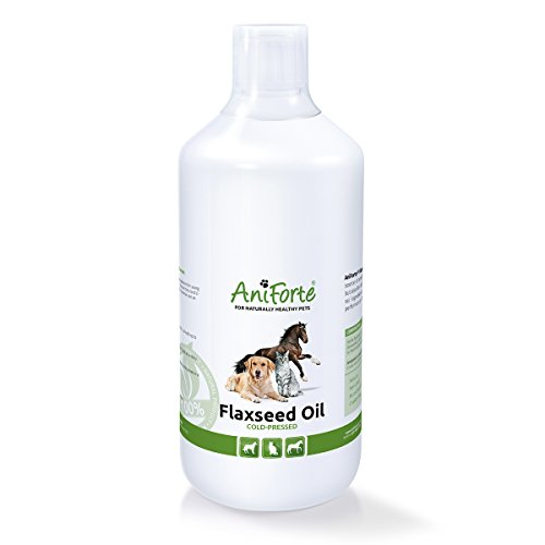 AniForte Cold-Pressed Flax-seed Oil 1000ml linseed oil- natural product for dogs, cats and horses
