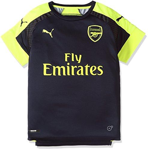 Puma Kinder Trikot AFC Third Replica Shirt Peacoat-Safety Yellow, 128 (World Soccer Replica Cup)