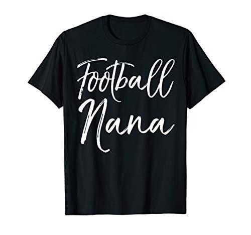 Cute Grandma Game Day Apparel for Women Football Nana T-Shirt - Nana Jugend T-shirt