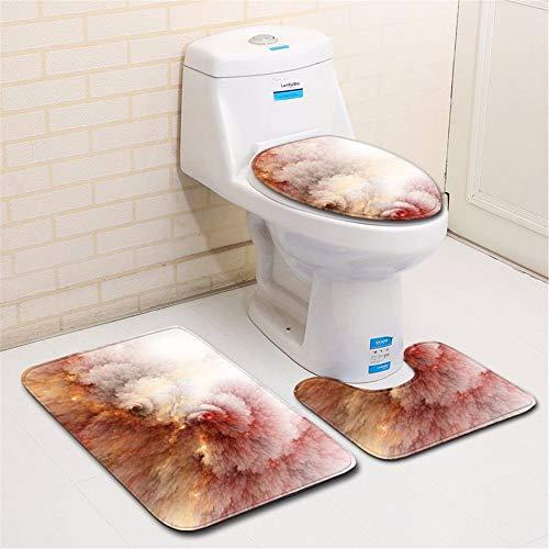 Qbath Bodenmatte Bad zu Hause 3D lackiert Bad WC dreiteilige 50 * 80cm, H