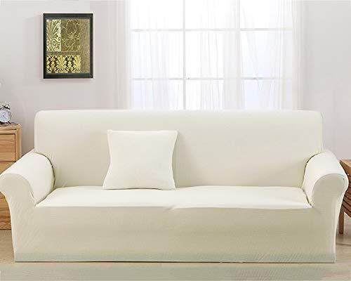 TSSCY Sofa Überwurf Anti-rutsch,Couch-Decken Stretch hussen Stuhl beschützer Sofa wirft Möbel Sessel Loveseat Sofa wirft Anti-mite Polyester-Weiß 4 Sitzer/übergroß Sofa