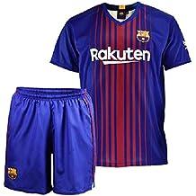 Conjunto - Kit 1ª Equipación Replica Oficial FC BARCELONA 2017-2018 Dorsal MESSI - Tallaje