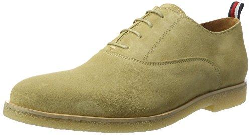 Tommy Hilfiger Herren W2285ILLIAM 1B Oxfords, Beige (Cashmere), 44 EU (Beige Schuhe Leder)