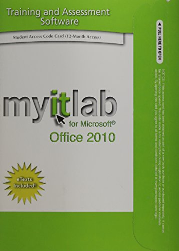 Myitlab for Microsoft Office 2010 Printed Access Code Card: Includes Etexts