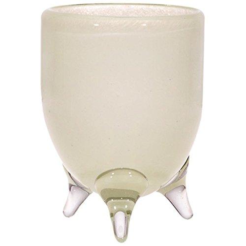 CRISTALICA 3-Fuss Bouquet Vase, Blumenvase, Biedermeierstrauss COLORI, creme, H=12cm, Ø 9cm,...