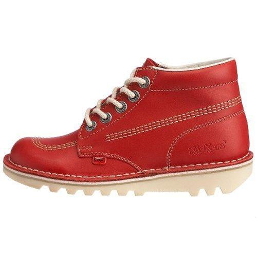 Kickers Kick Hi Core Women's Shoes, Red, 8 UK