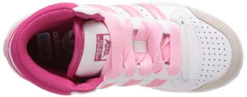adidas Topten Hi K, Sneaker Unisex – Bambini bianco (Blanc (White/Blast Pink/White))