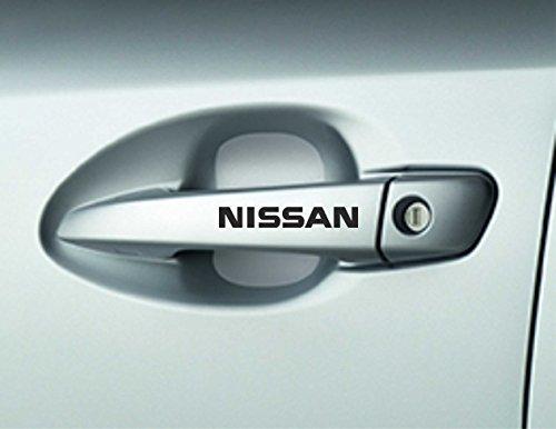 """Preisvergleich Produktbild Türgriff-Aufkleber mit Schriftzug """"Nissan"""", Nissan Micra, Premium-Qualität, 6Stück"""
