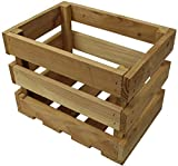 Trendkontor Holzkiste Obstkiste Weinkiste Apfelkiste Holz Kiste 42 x 30 x 32 cm