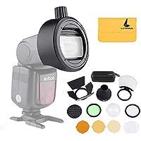 Godox AK-R1 Accessory Kit e S-R1 Round Ring Adattatore per AD200 V860II V850II TT685 TT600 Flash compatibile per Flash Crea effetti di luce creativi