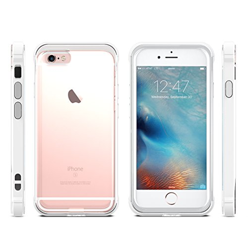 Coque iPhone 6S Plus Anti Chocs,Omoton Housse Etuit De Protection,Case Pour iPhone 6/6S Plus Blanc White