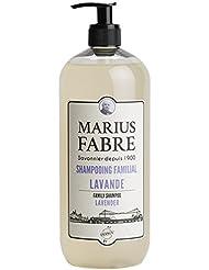 Marius Fabre - Shampooing Familial Parfumé Lavande 1 litre. Huiles 100% végétales - Sans graisses animales - Sans...