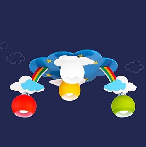 GWFVA Augenschutz Kind Deckenleuchte Regenbogen Kinder Deckenleuchten Schlafzimmer Männer Mädchen Prinzessin Raumbeleuchtung Kreative LED Cartoon Licht DeckenleuchteA + (Farbe: Farbton)