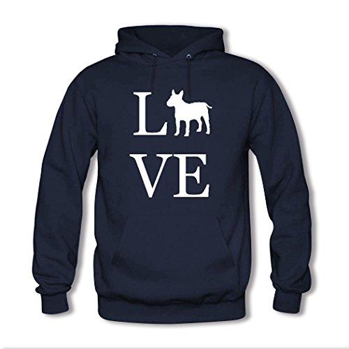 weileDIY Lover Dog Paw DIY Custom Womens Printed Hoodie Sweatshirt Navy_B
