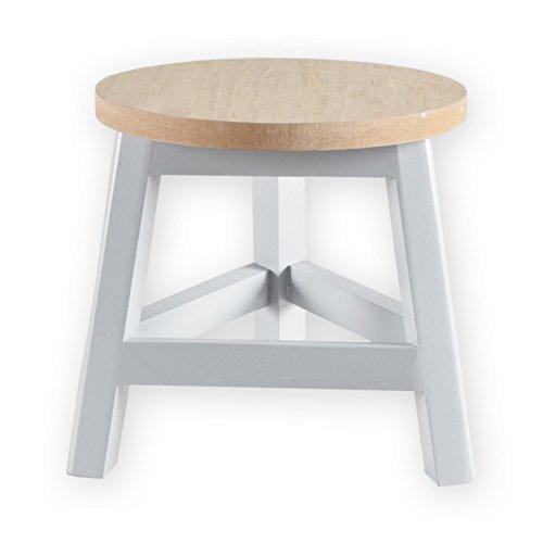 Holzhocker THIRD Sitzhocker Dekohocker Blumenhocker Holzschemel Holz Dreibein (1 Stück, Grau)