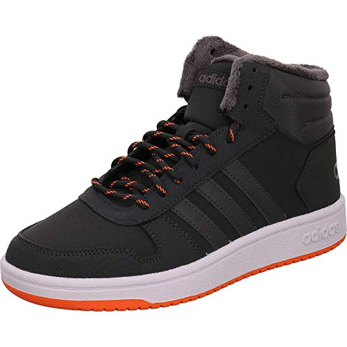 adidas Unisex-Kinder Hoops Mid 2.0 Basketballschuhe, Grau Carbon/Grefiv/Hireor, 36 2/3 EU