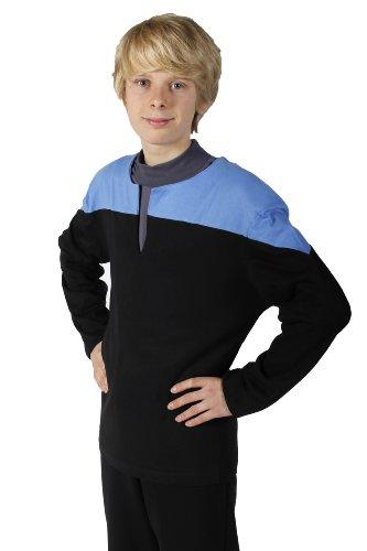 Star Trek - Voyager - Uniform Shirt - Blau Größe S - DS9 + Mediziner