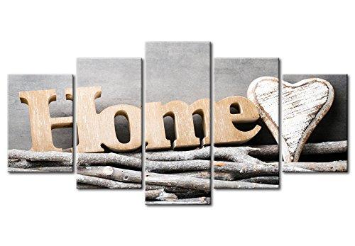 murando - Acrylglasbild House 200x100 cm - 5 Teilig - Glasbilder - Wandbilder XXL - Wandbild - Bilder Home m-B-0031-k-m - 6