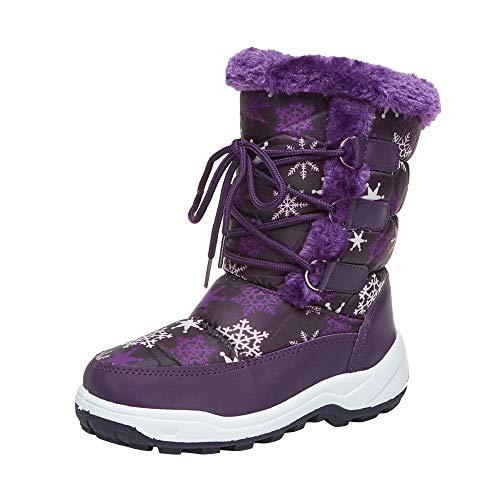 Dehots Kinder Schneestiefel Winterstiefel Stiefel Puff Boot Warm Gefütterte Wasserdicht Mädchen Jungen Kleinkind Baby Schuhe Winter (Fit-puff)