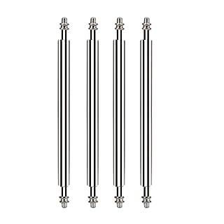 alohha 20mm x 1,8mm Edelstahl Uhrenarmband Spring Bar Pins für Armbanduhr Band an Uhren oder Schnalle (Set von vier)